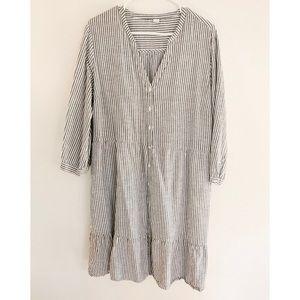 Old Navy Women's White & Gray Striped Dress XL